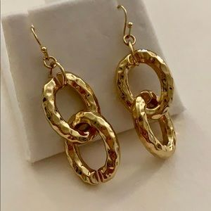 Anthropologie Jewelry - Gold chain earrings